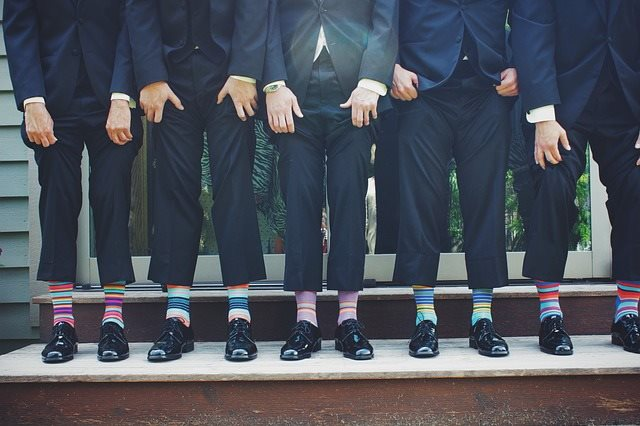 Suits and Colorful Socks