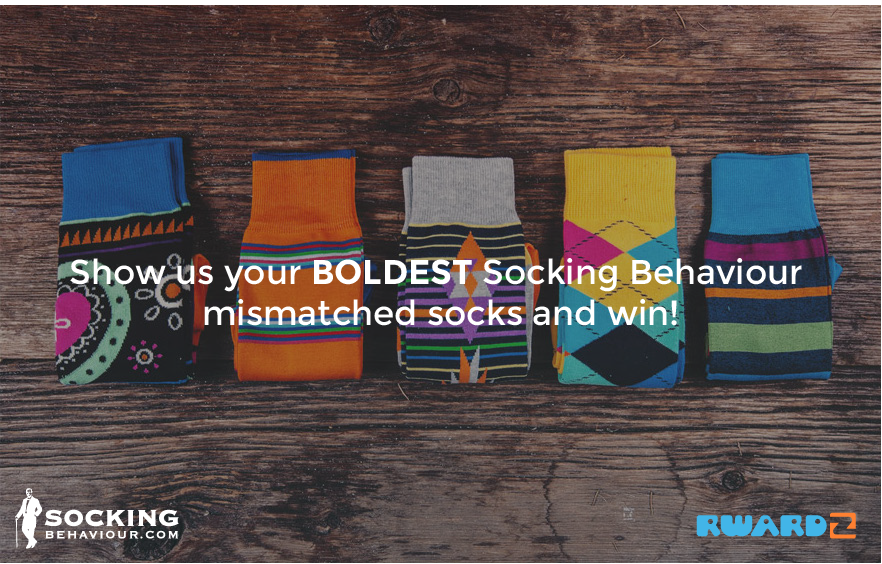 Show us your BOLDEST Socking Behaviour with mismatched socks and win!