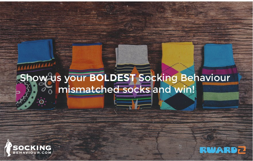 Show us your BOLDEST Socking Behaviour with mismatched socks and win